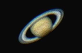 Saturn Mynd tekin með vefmyndavél 620 myndir af 3000 myndum staflaðar saman í eina mynd.